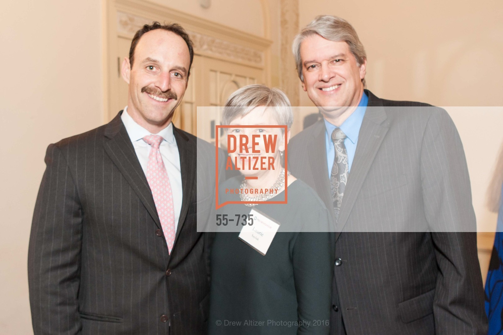 Jim Walter, Laurie Saylak, Rick Schneider, A Night with the NewsHour, Metropolitan Club. 640 Sutter Street, January 21st, 2016,Drew Altizer, Drew Altizer Photography, full-service agency, private events, San Francisco photographer, photographer california