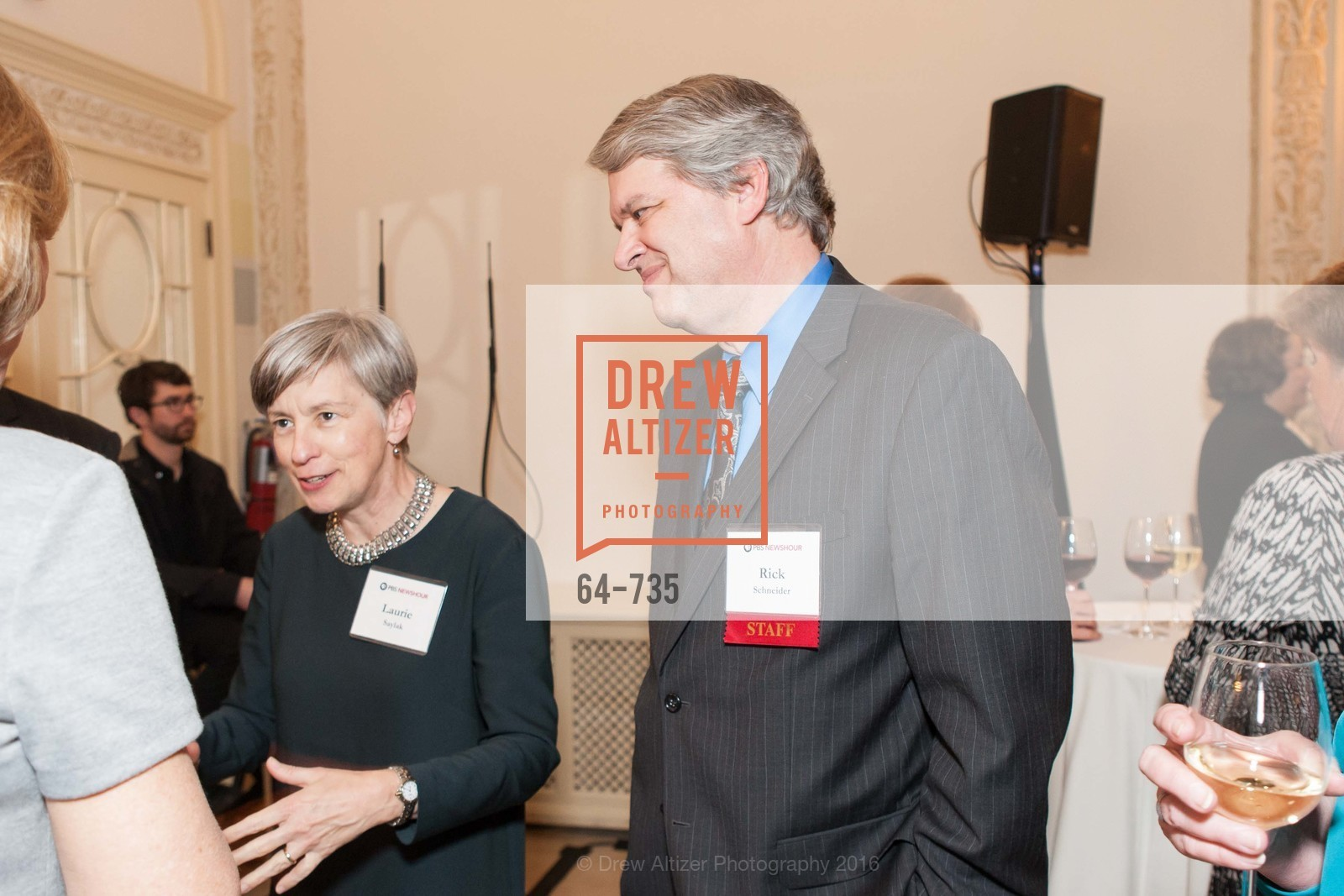 Laurie Saylak, Rick Schneider, A Night with the NewsHour, Metropolitan Club. 640 Sutter Street, January 21st, 2016,Drew Altizer, Drew Altizer Photography, full-service agency, private events, San Francisco photographer, photographer california