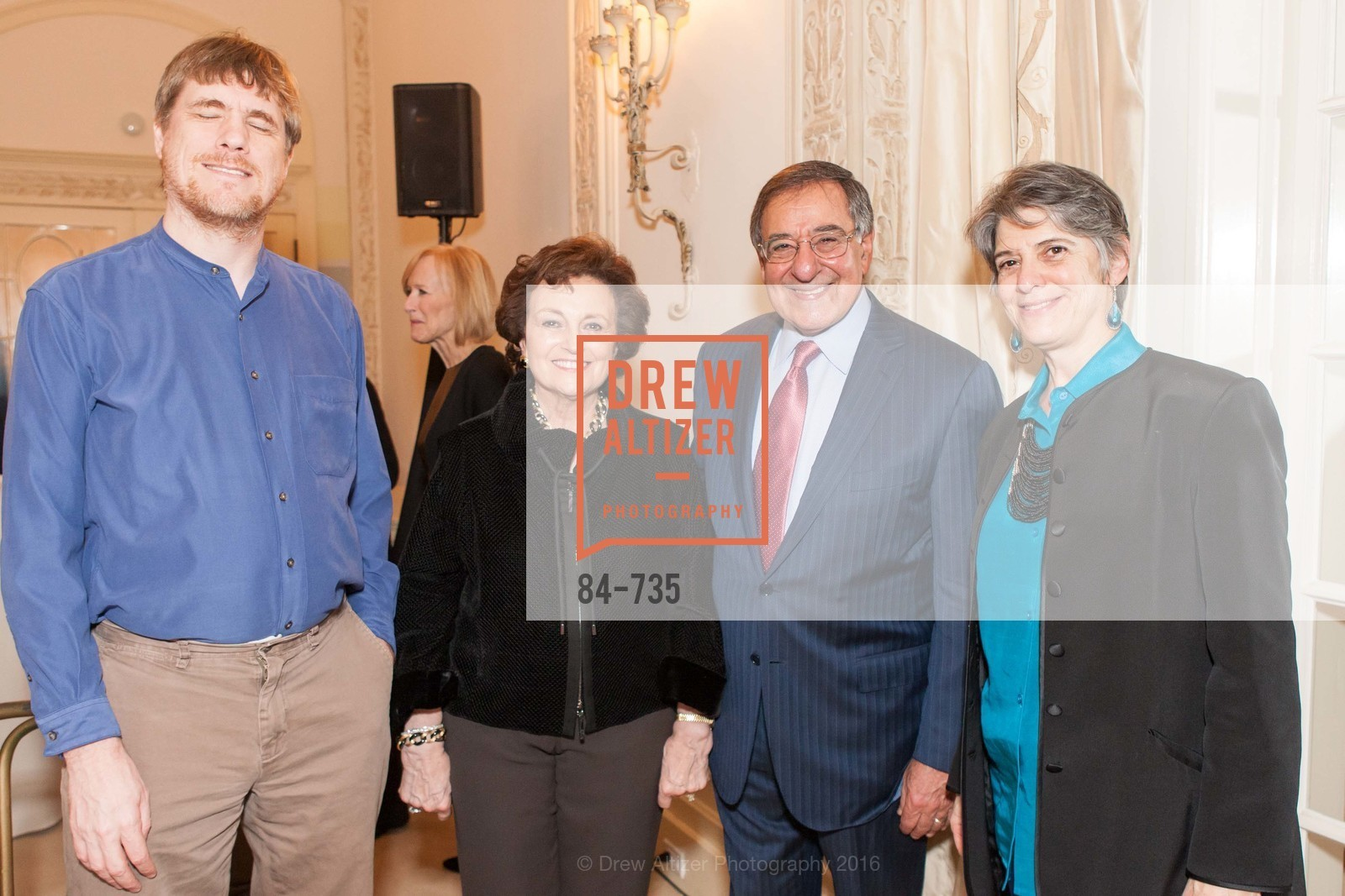 David DesJardin, Sylvia Panetta, Leon Panetta, Nancy Blachman, A Night with the NewsHour, Metropolitan Club. 640 Sutter Street, January 21st, 2016,Drew Altizer, Drew Altizer Photography, full-service agency, private events, San Francisco photographer, photographer california