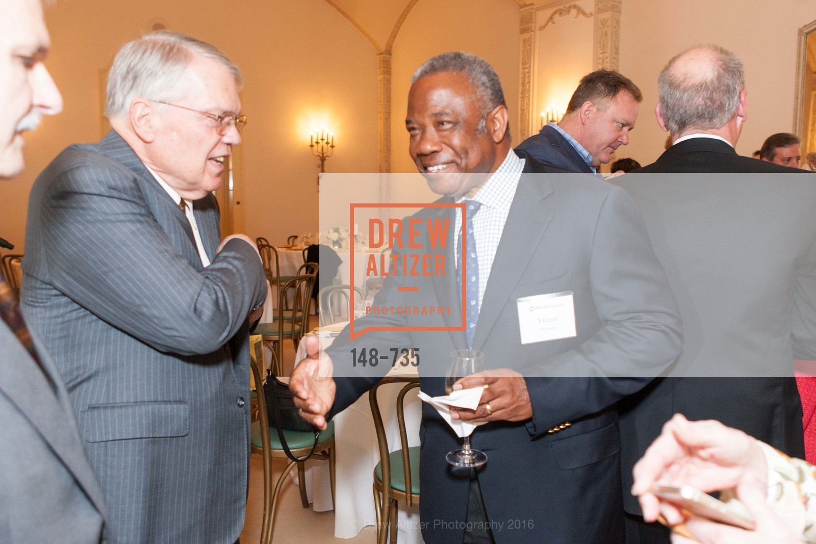 Charles Smith, Victor Hymes, A Night with the NewsHour, Metropolitan Club. 640 Sutter Street, January 21st, 2016