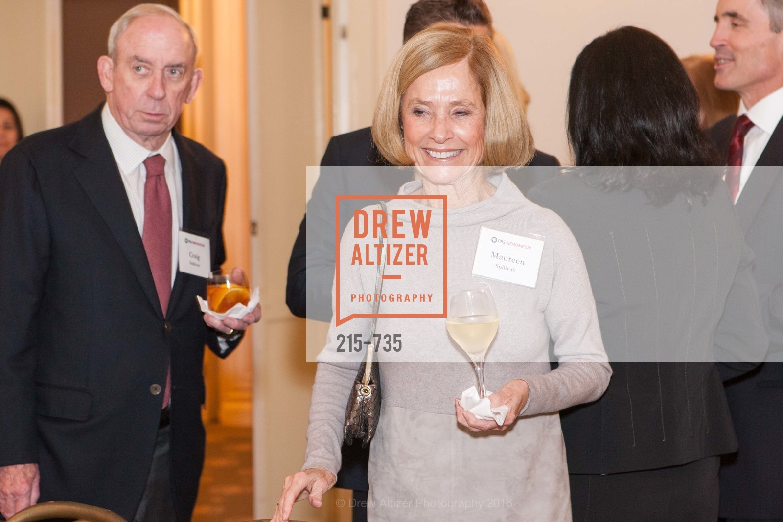 Craig Sullivan, Maureen Sullivan, A Night with the NewsHour, Metropolitan Club. 640 Sutter Street, January 21st, 2016,Drew Altizer, Drew Altizer Photography, full-service agency, private events, San Francisco photographer, photographer california