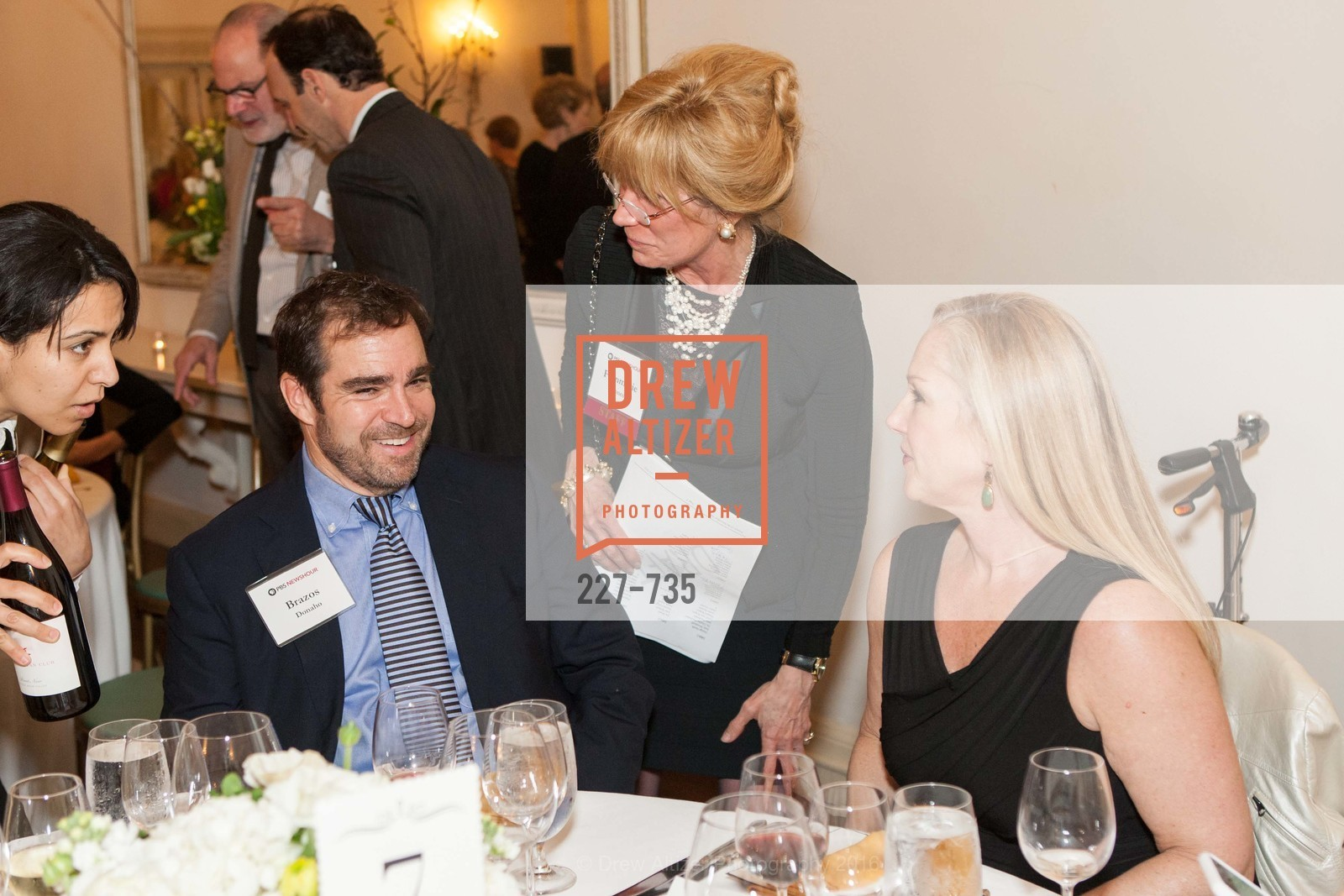 Brazos Donaho, Franmarie Kennedy, Jackie Donaho, A Night with the NewsHour, Metropolitan Club. 640 Sutter Street, January 21st, 2016,Drew Altizer, Drew Altizer Photography, full-service agency, private events, San Francisco photographer, photographer california