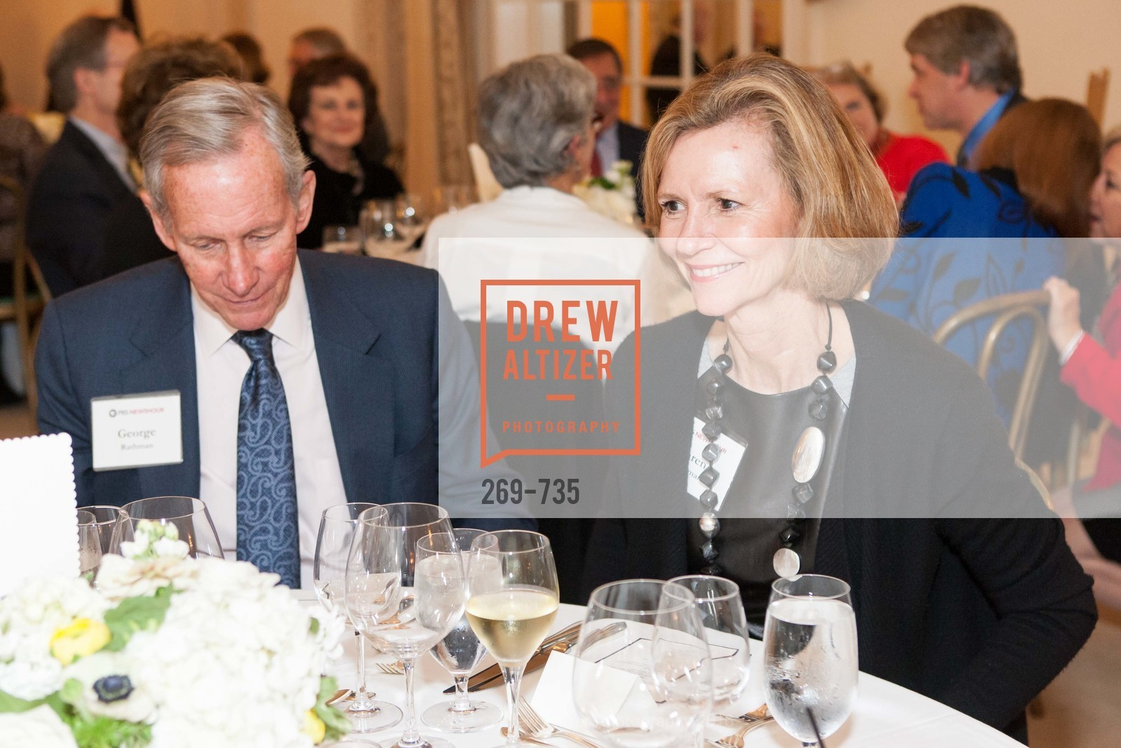 George Rathman, Karen Rathman, A Night with the NewsHour, Metropolitan Club. 640 Sutter Street, January 21st, 2016,Drew Altizer, Drew Altizer Photography, full-service agency, private events, San Francisco photographer, photographer california