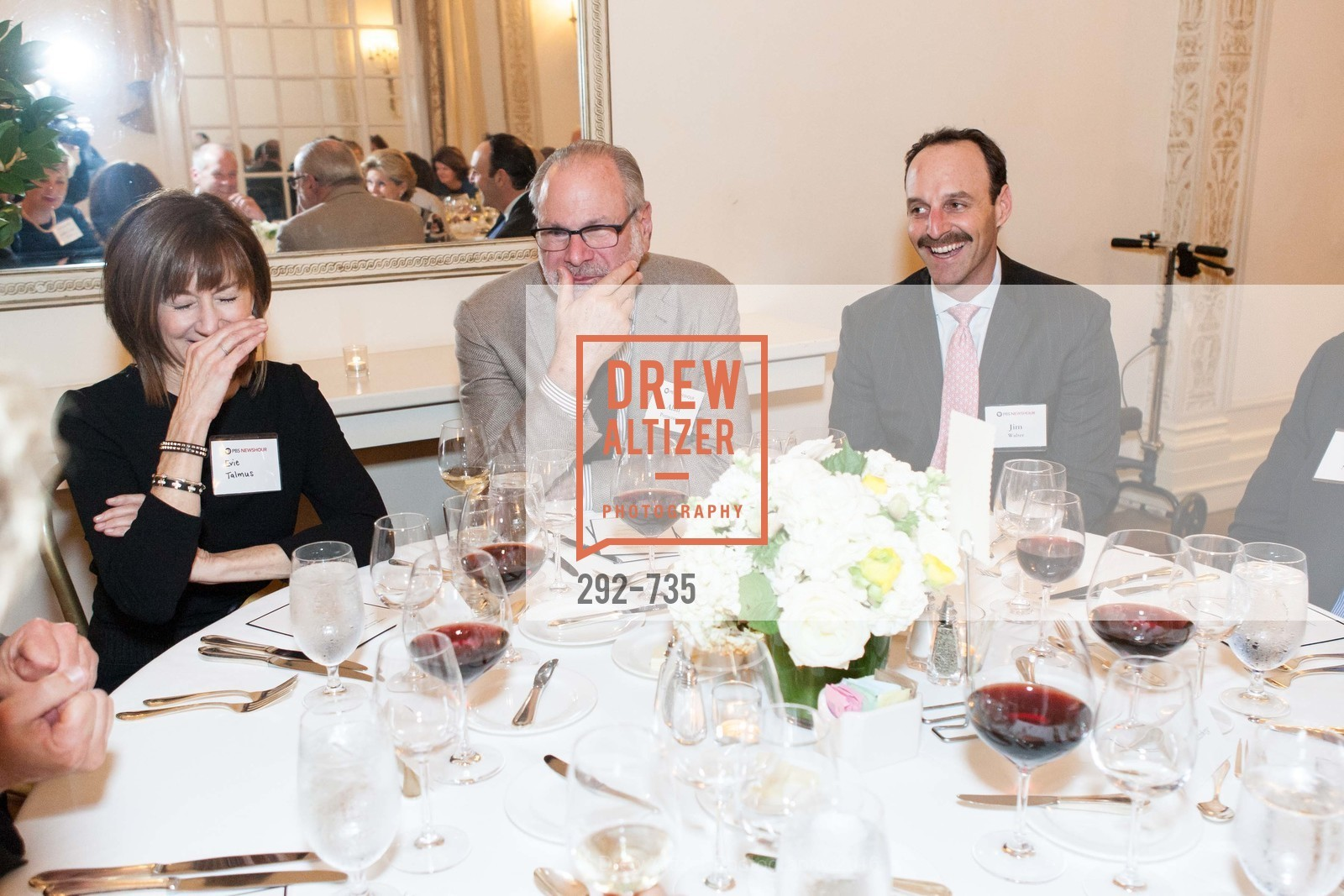 Evie Talmus, Alan Pomerantz, Jim Walter, A Night with the NewsHour, Metropolitan Club. 640 Sutter Street, January 21st, 2016,Drew Altizer, Drew Altizer Photography, full-service agency, private events, San Francisco photographer, photographer california