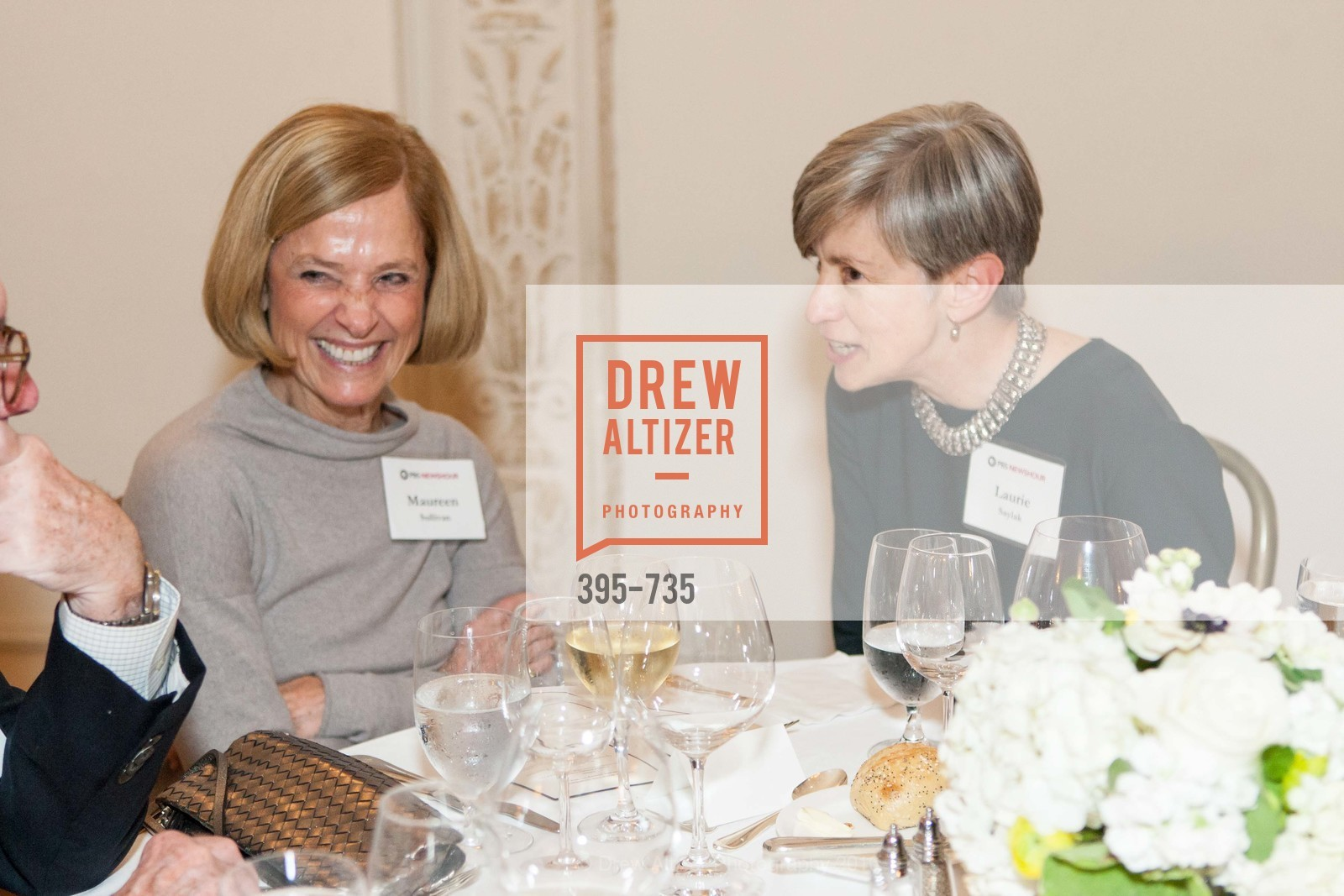 Maureen Sullivan, Laurie Saylak, A Night with the NewsHour, Metropolitan Club. 640 Sutter Street, January 21st, 2016,Drew Altizer, Drew Altizer Photography, full-service agency, private events, San Francisco photographer, photographer california