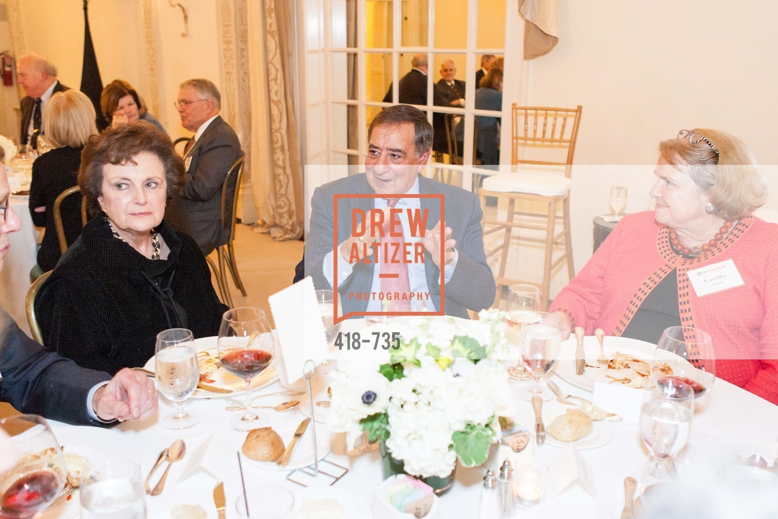 Sylvia Panetta, Leon Panetta, Camilla Smith, A Night with the NewsHour, Metropolitan Club. 640 Sutter Street, January 21st, 2016,Drew Altizer, Drew Altizer Photography, full-service agency, private events, San Francisco photographer, photographer california