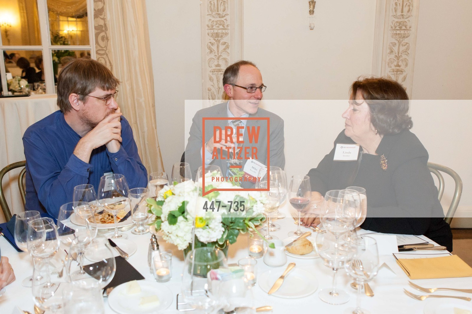 David DesJardin, Mike Rancilio, Linda Gruber, A Night with the NewsHour, Metropolitan Club. 640 Sutter Street, January 21st, 2016,Drew Altizer, Drew Altizer Photography, full-service agency, private events, San Francisco photographer, photographer california
