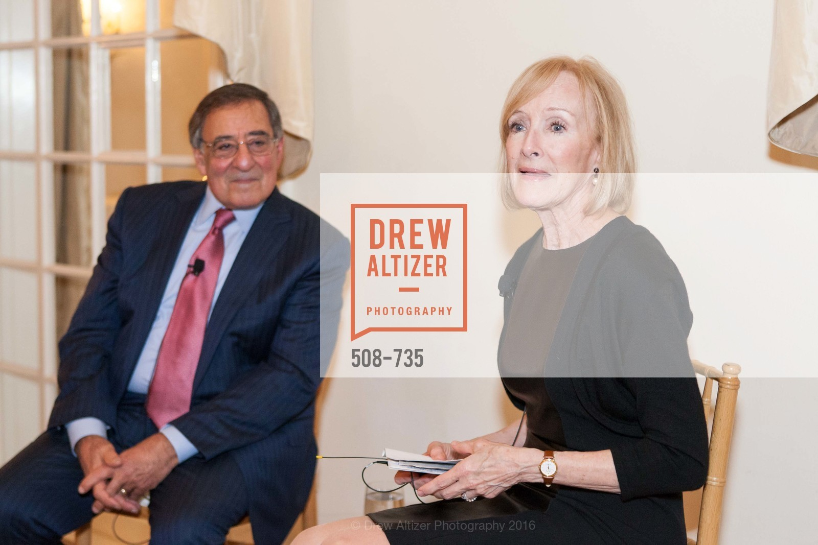 Leon Panetta, Judy Woodruff, A Night with the NewsHour, Metropolitan Club. 640 Sutter Street, January 21st, 2016,Drew Altizer, Drew Altizer Photography, full-service agency, private events, San Francisco photographer, photographer california