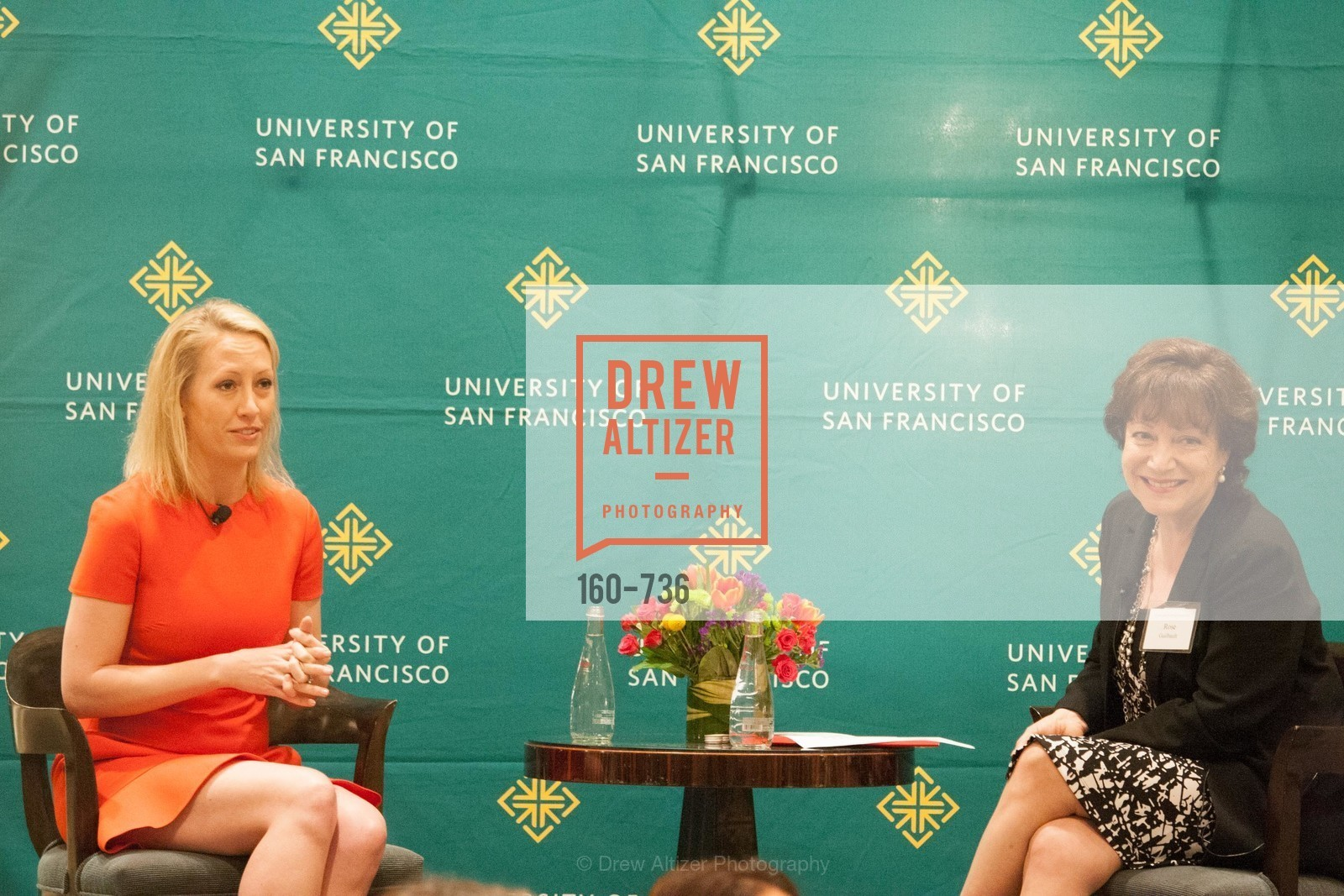Julia Hartz, Rose Guibault, USF Women in Leadership and Philanthropy Luncheon With Julia Hartz, Co-Founder & President of EventBrite, US, May 15th, 2015,Drew Altizer, Drew Altizer Photography, full-service agency, private events, San Francisco photographer, photographer california