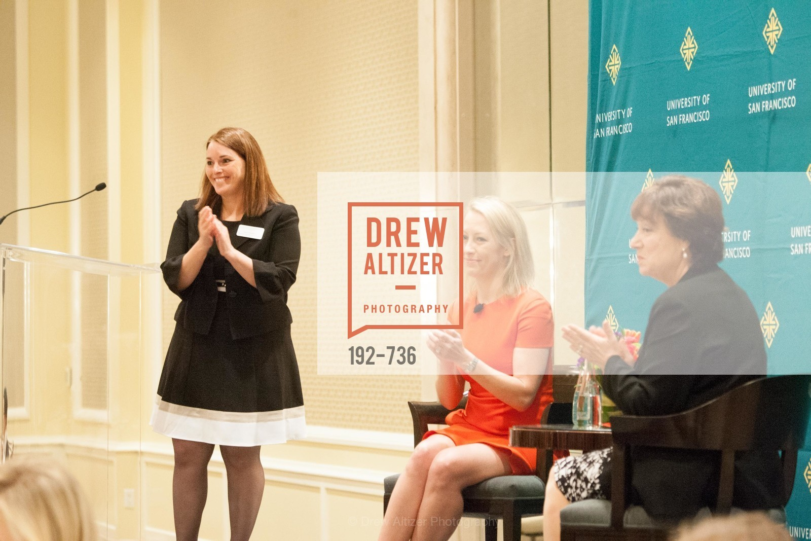 Leslie Theodore, Julia Hartz, Rose Guibault, USF Women in Leadership and Philanthropy Luncheon With Julia Hartz, Co-Founder & President of EventBrite, US, May 15th, 2015,Drew Altizer, Drew Altizer Photography, full-service agency, private events, San Francisco photographer, photographer california