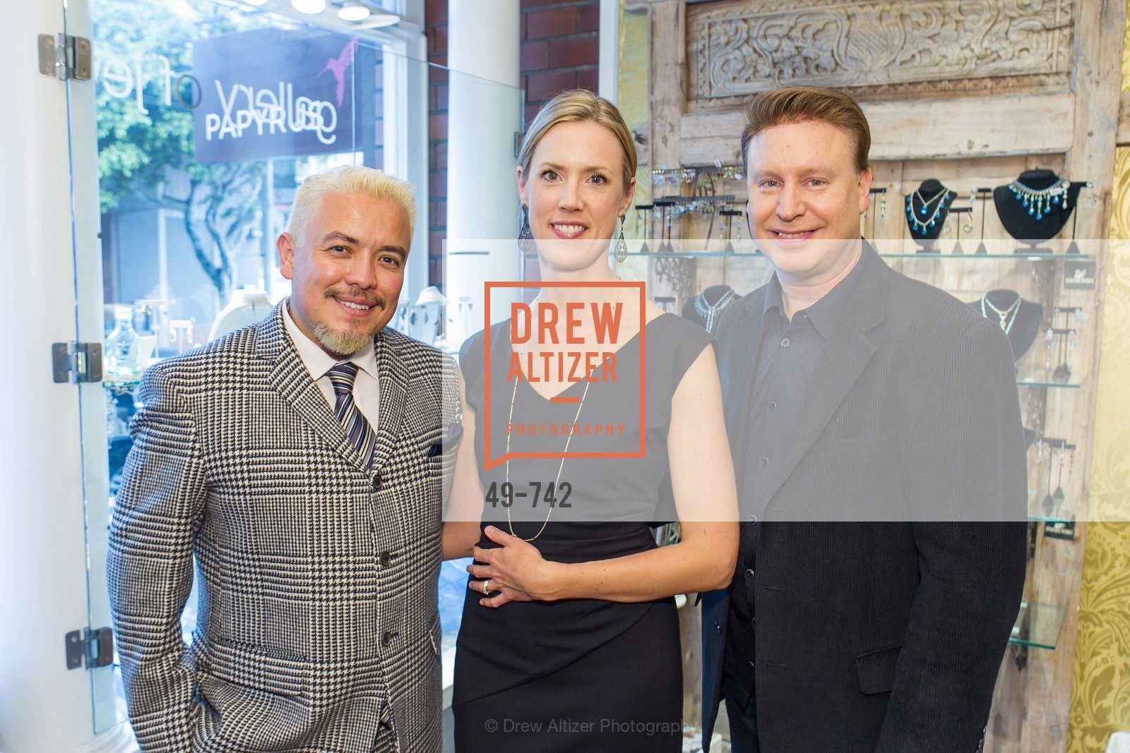 Victor Vargas, Nikki Ryan, Doug Waggener, LUXETIGERS & GALLERY OF JEWELS Benefit for Dress for Success, US, May 21st, 2015,Drew Altizer, Drew Altizer Photography, full-service agency, private events, San Francisco photographer, photographer california
