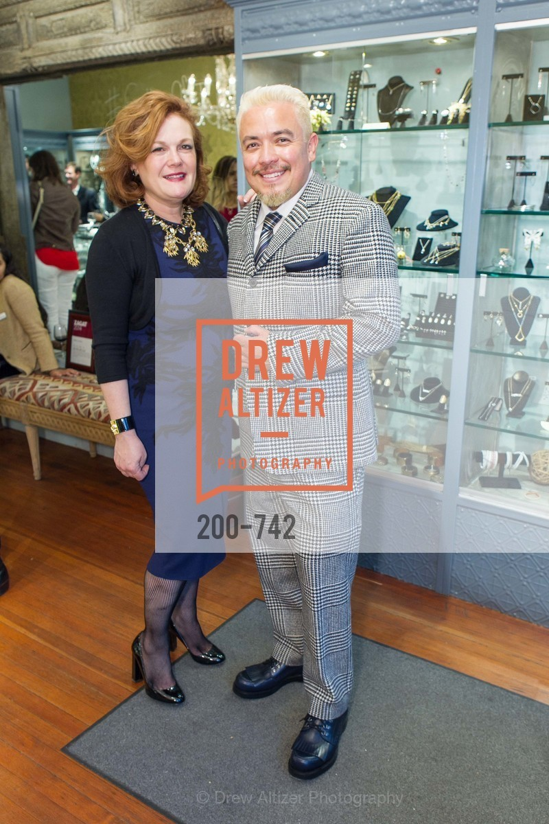 Jennifer Riaser, Victor Vargas, LUXETIGERS & GALLERY OF JEWELS Benefit for Dress for Success, US, May 21st, 2015,Drew Altizer, Drew Altizer Photography, full-service event agency, private events, San Francisco photographer, photographer California