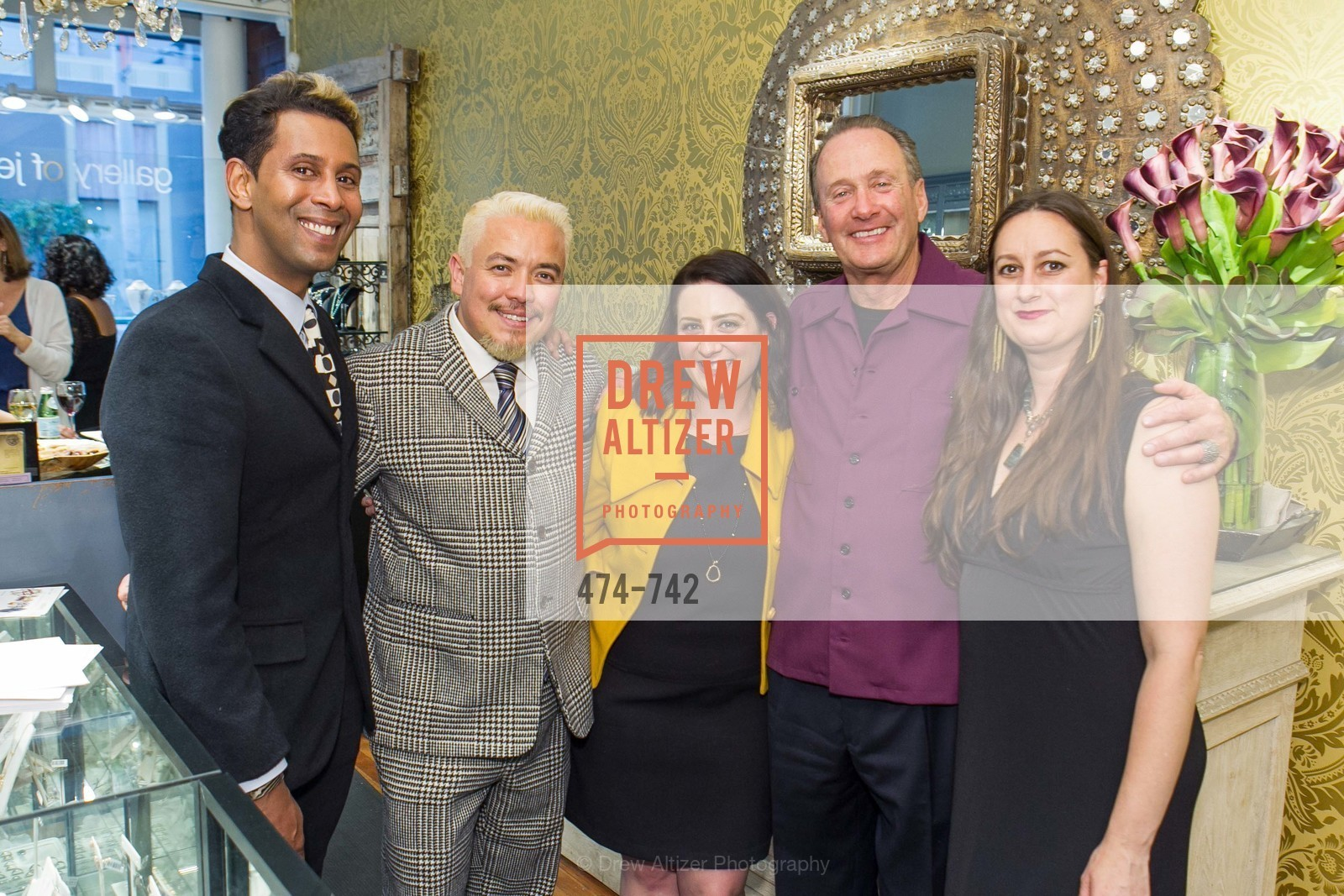 Emillio Mesa, Victor Vargas, Gia Barsi, Bill Hoover, Erica Scott, LUXETIGERS & GALLERY OF JEWELS Benefit for Dress for Success, US, May 21st, 2015,Drew Altizer, Drew Altizer Photography, full-service agency, private events, San Francisco photographer, photographer california
