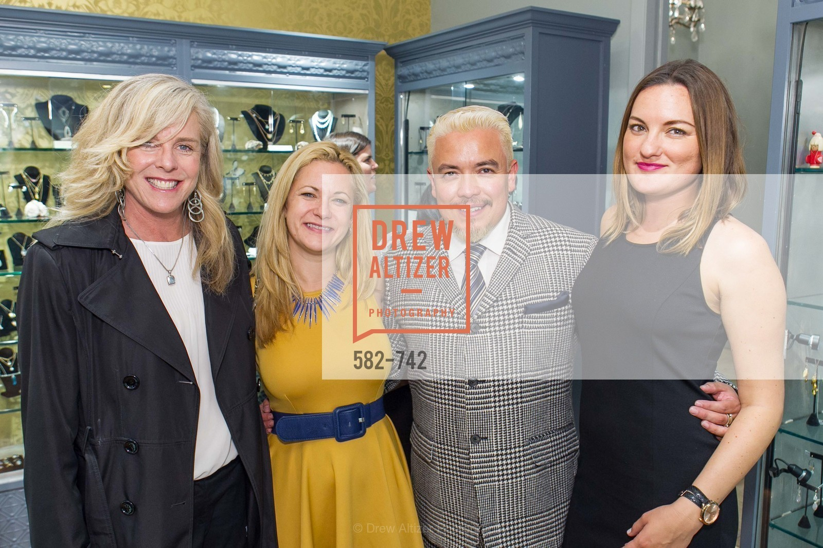 Denise Lamott, Danielle Shareshian, Victor Vargas, Rena Ramirez, LUXETIGERS & GALLERY OF JEWELS Benefit for Dress for Success, US, May 21st, 2015,Drew Altizer, Drew Altizer Photography, full-service agency, private events, San Francisco photographer, photographer california