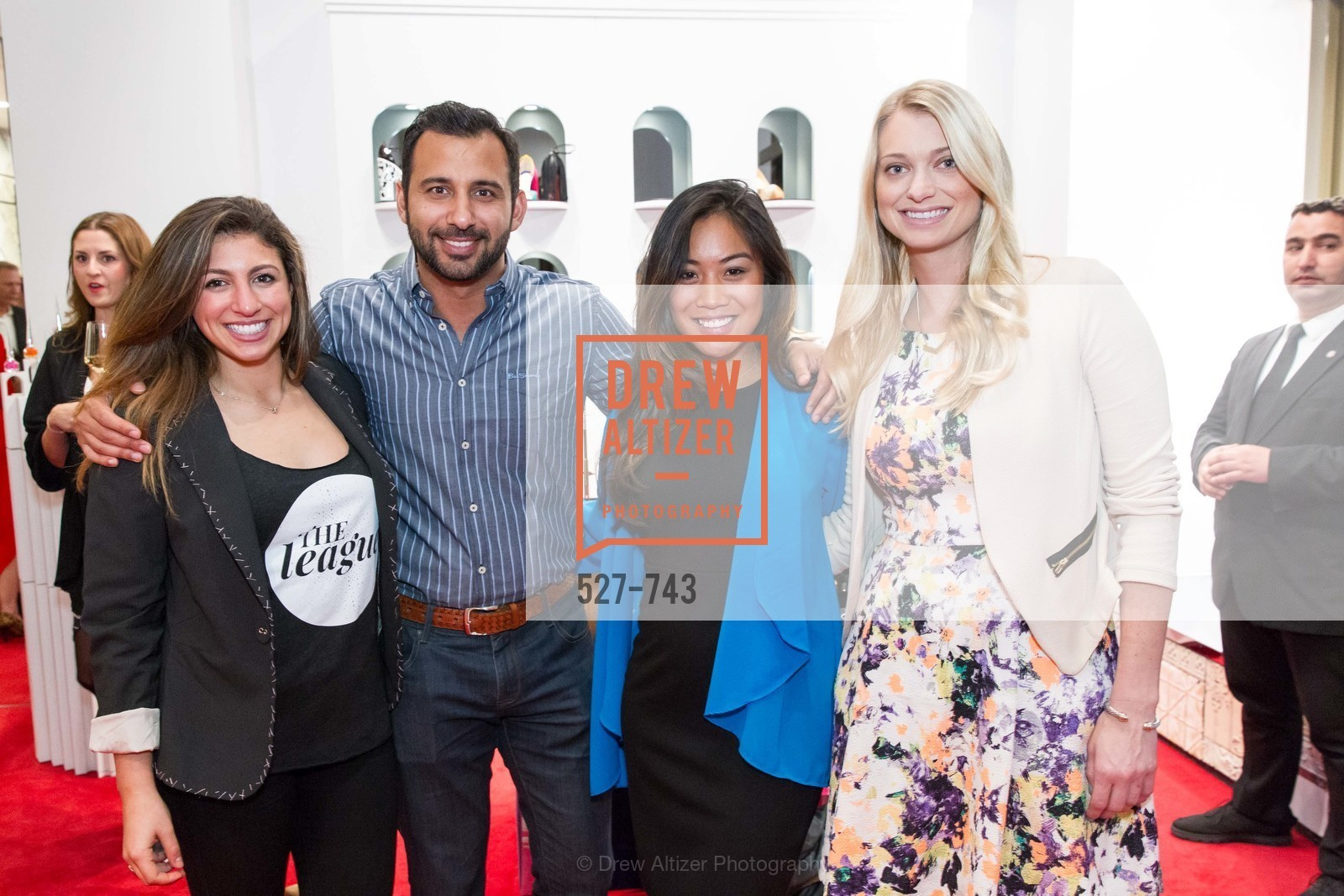 Meredith Davis, Payam Pakmanesh, Louella Aquino, Amanda Bradford, CHRISTIAN LOUBOUTIN Anniversary Party, US, May 20th, 2015,Drew Altizer, Drew Altizer Photography, full-service agency, private events, San Francisco photographer, photographer california