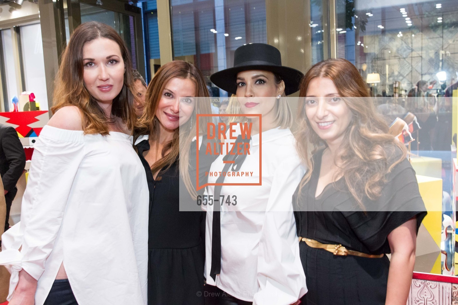 Camilla Papale, Claudia Ross, Lora DuBain, Kristina Musailov, CHRISTIAN LOUBOUTIN Anniversary Party, US, May 20th, 2015,Drew Altizer, Drew Altizer Photography, full-service agency, private events, San Francisco photographer, photographer california