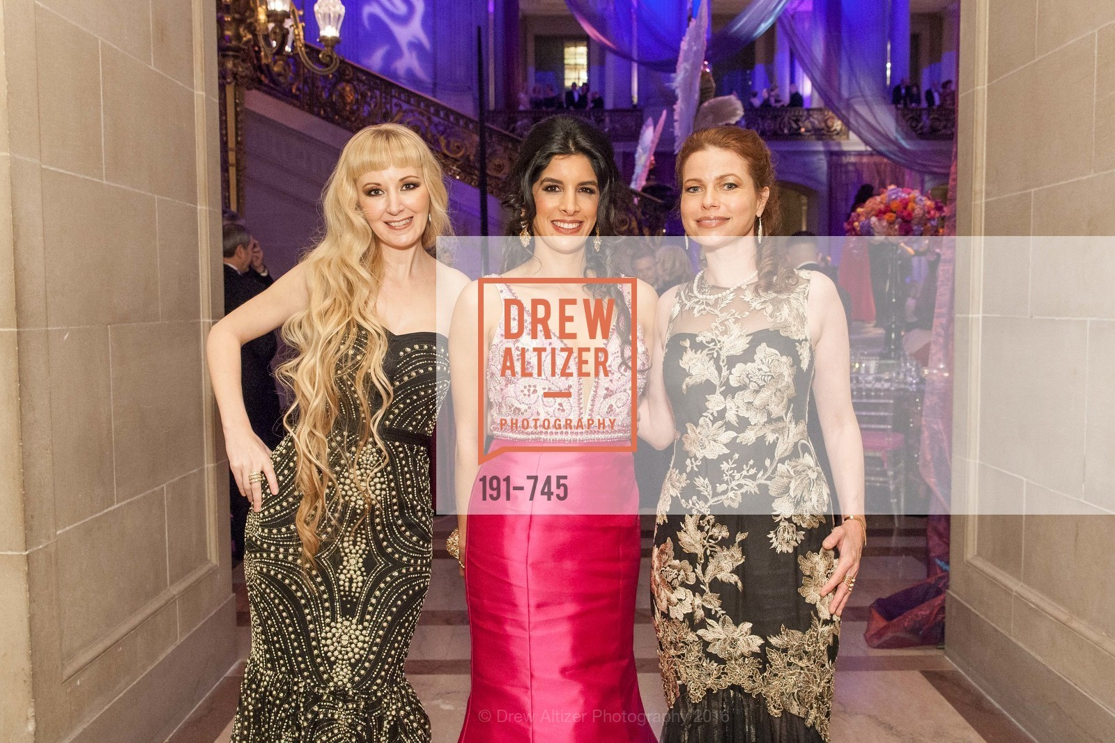 Shannyn Bessoni, Veronica Rivas-Tramontozzi, Christina Eriksson, San Francisco Ballet 2016 Opening Night Gala Part 2, San Francisco City Hall, January 21st, 2016,Drew Altizer, Drew Altizer Photography, full-service agency, private events, San Francisco photographer, photographer california