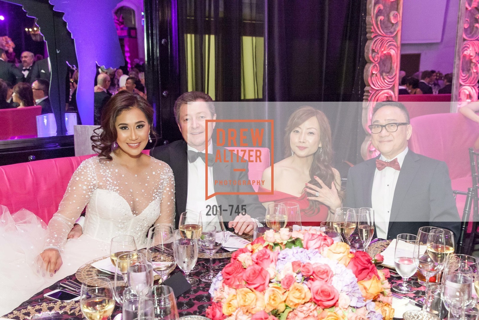 Nune Worraruji, James Tyree, Janet Wong, Francis Wong, San Francisco Ballet 2016 Opening Night Gala Part 2, San Francisco City Hall, January 21st, 2016,Drew Altizer, Drew Altizer Photography, full-service agency, private events, San Francisco photographer, photographer california
