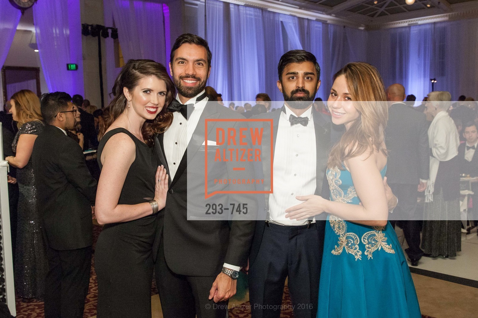 Kelly Williams, Olivier Courtemanche, Rishi Dixit, Elizabeth Chabot, San Francisco Ballet 2016 Opening Night Gala Part 2, San Francisco City Hall, January 21st, 2016,Drew Altizer, Drew Altizer Photography, full-service agency, private events, San Francisco photographer, photographer california