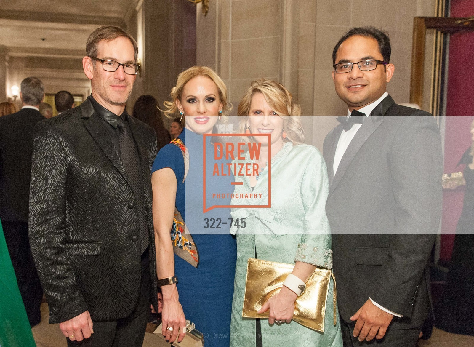 Chris Hollenbeck, Holly Hollenbeck, Marie Hurabiell, Mainul Mondal, San Francisco Ballet 2016 Opening Night Gala Part 2, San Francisco City Hall, January 21st, 2016,Drew Altizer, Drew Altizer Photography, full-service agency, private events, San Francisco photographer, photographer california