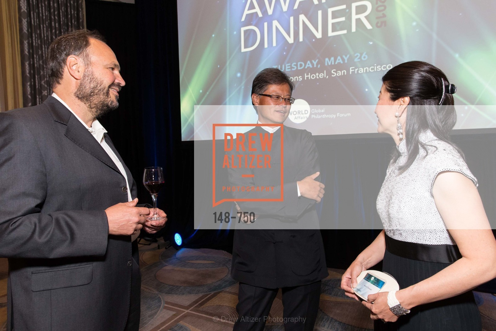 Paul Maritz, Jerry Yang, Akiko Yamazaki, Jay Xu, WORLD AFFAIRS COUNCIL Awards Dinner, US, May 27th, 2015,Drew Altizer, Drew Altizer Photography, full-service agency, private events, San Francisco photographer, photographer california