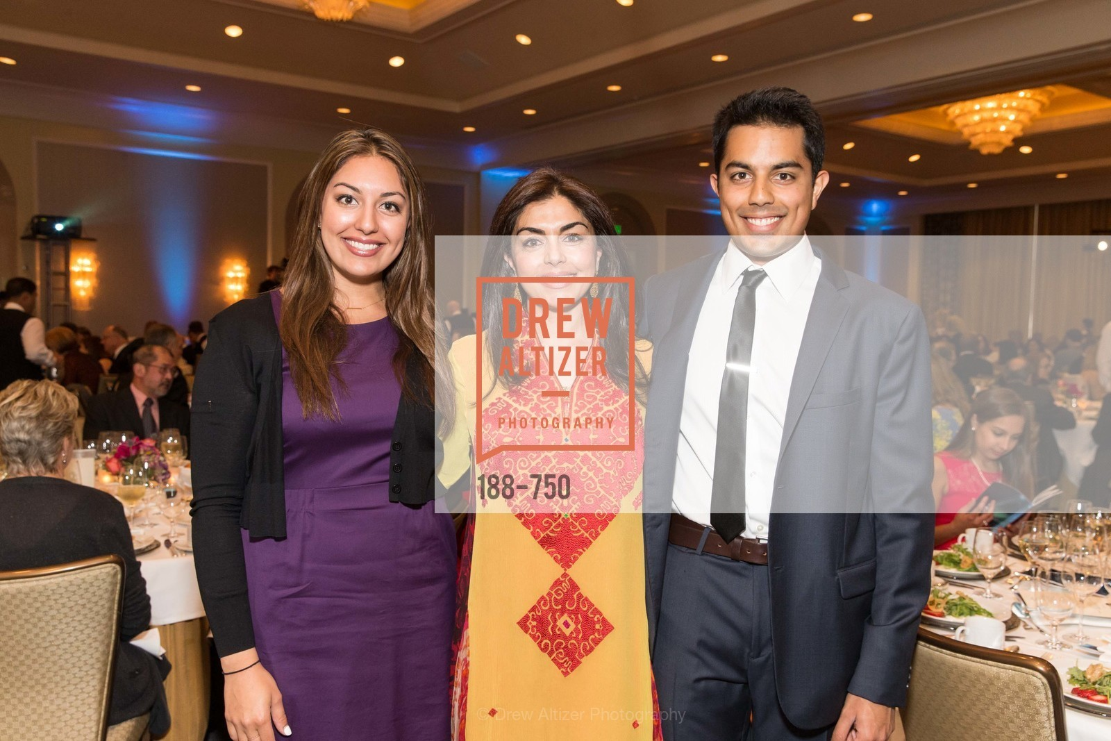 Fasia Abbasi, Sara Abbasi, Faiz Abbasi, WORLD AFFAIRS COUNCIL Awards Dinner, US, May 27th, 2015,Drew Altizer, Drew Altizer Photography, full-service agency, private events, San Francisco photographer, photographer california