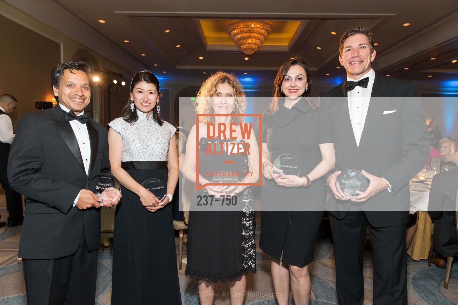Deepak Srivastava, Akiko Yamazaki, Sharon Chabon, Bita Daryabari, Gary Kovacs, WORLD AFFAIRS COUNCIL Awards Dinner, US, May 26th, 2015,Drew Altizer, Drew Altizer Photography, full-service agency, private events, San Francisco photographer, photographer california