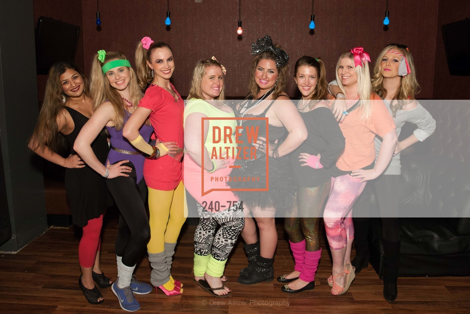 Priya Saiprasad, Elizabeth Sgarrella, Michelle Bertino, Eryn Golden, Annie Benisch, Julia Allyn, Summer McCormick, Cambria Steel, SPINSTERS OF SAN FRANCISCO Party Like It's 1985 Charity Party, US, Fort One Bar & Lounge. 2801 Leavenworth St, May 30th, 2015,Drew Altizer, Drew Altizer Photography, full-service agency, private events, San Francisco photographer, photographer california