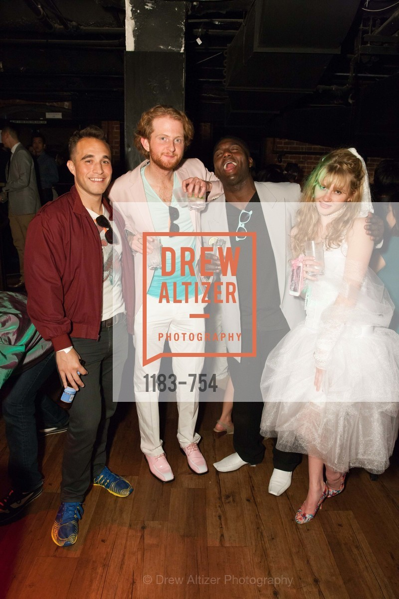 Aaron Crapers, Brandon Finn, Morgan Talsun, Alexa Bolton, SPINSTERS OF SAN FRANCISCO Party Like It's 1985 Charity Party, US, Fort One Bar & Lounge. 2801 Leavenworth St, May 30th, 2015,Drew Altizer, Drew Altizer Photography, full-service agency, private events, San Francisco photographer, photographer california