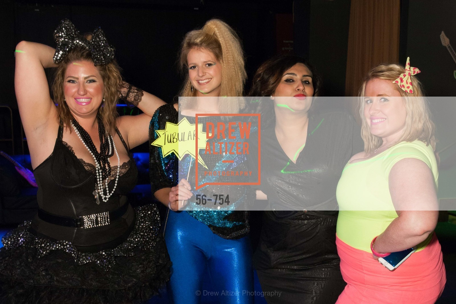 Annie Benisch, Laura Moir, Teesta Kaur, Eryn Golden, SPINSTERS OF SAN FRANCISCO Party Like It's 1985 Charity Party, US, Fort One Bar & Lounge. 2801 Leavenworth St, May 30th, 2015,Drew Altizer, Drew Altizer Photography, full-service agency, private events, San Francisco photographer, photographer california