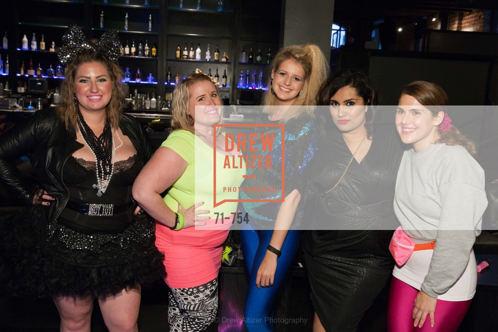 Annie Benisch, Eryn Golden, Laura Moir, Teesta Kaur, Cailin Todd, SPINSTERS OF SAN FRANCISCO Party Like It's 1985 Charity Party, US, Fort One Bar & Lounge. 2801 Leavenworth St, May 30th, 2015,Drew Altizer, Drew Altizer Photography, full-service agency, private events, San Francisco photographer, photographer california