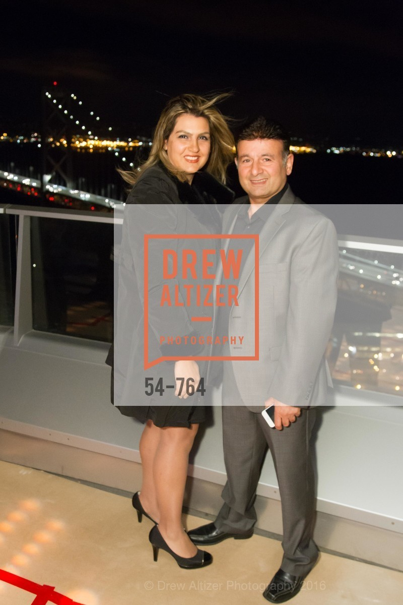Fatima Shahmirzai, Saeed Shahmirzai, LUMINA and The Bay Lights Reillumination Celebration, LUMINA. Penthouses 36A and 36B, January 26th, 2016,Drew Altizer, Drew Altizer Photography, full-service agency, private events, San Francisco photographer, photographer california