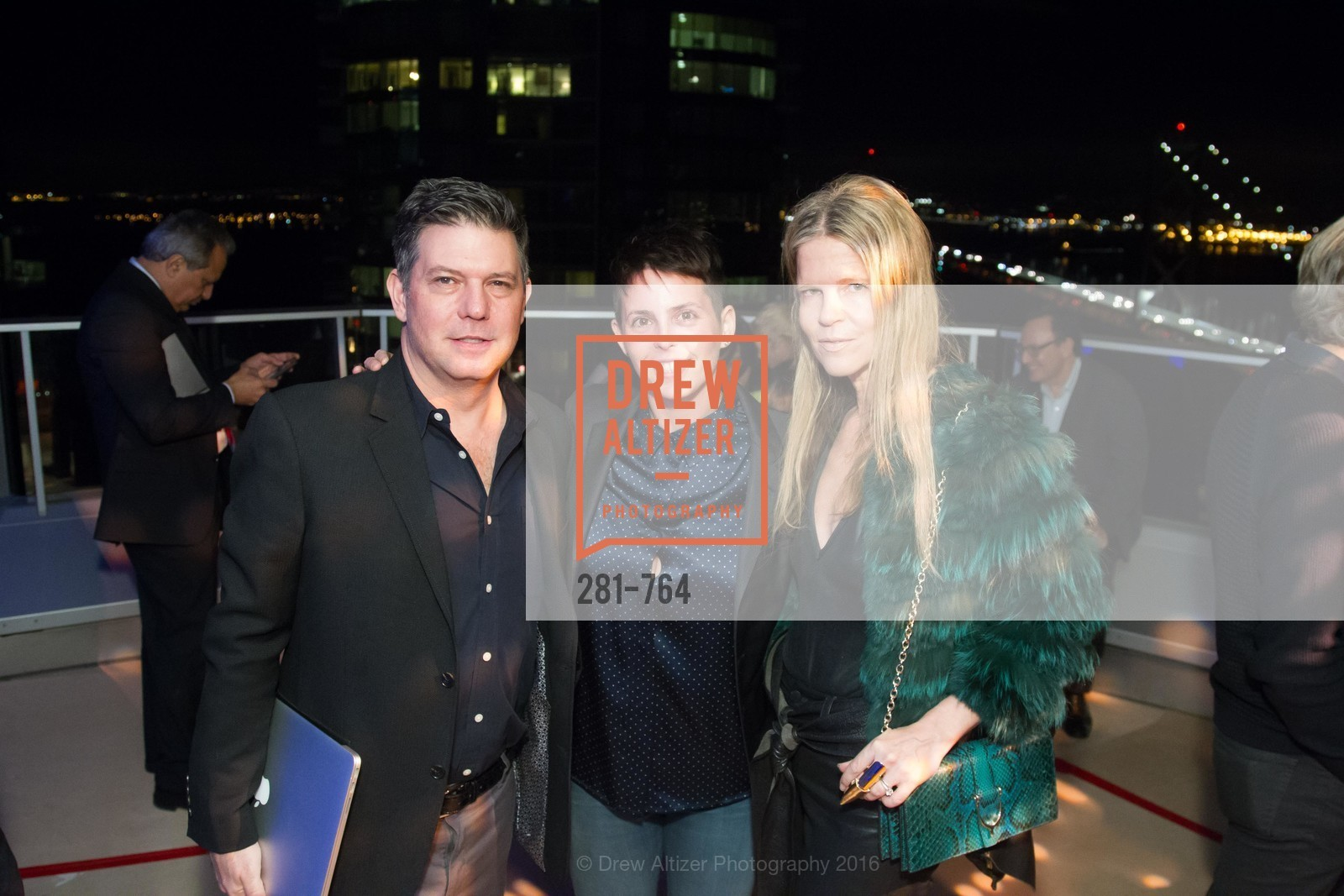Leo Villareal, Jessica Silverman, Yvonne Villareal, LUMINA and The Bay Lights Reillumination Celebration, LUMINA. Penthouses 36A and 36B, January 26th, 2016,Drew Altizer, Drew Altizer Photography, full-service agency, private events, San Francisco photographer, photographer california