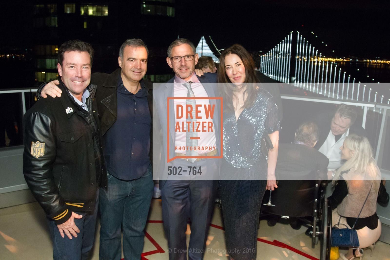 Keith Bruce, JP Conte, Ben Davis, Vanessa Inn, LUMINA and The Bay Lights Reillumination Celebration, LUMINA. Penthouses 36A and 36B, January 26th, 2016