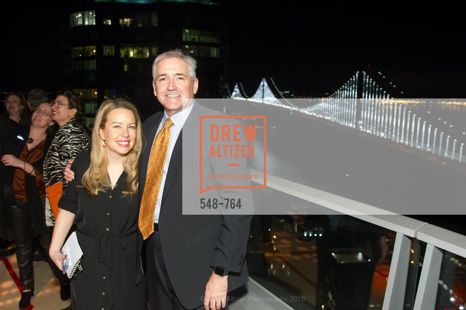 Teresa Dunca, Gary Pike, LUMINA and The Bay Lights Reillumination Celebration, LUMINA. Penthouses 36A and 36B, January 26th, 2016,Drew Altizer, Drew Altizer Photography, full-service agency, private events, San Francisco photographer, photographer california