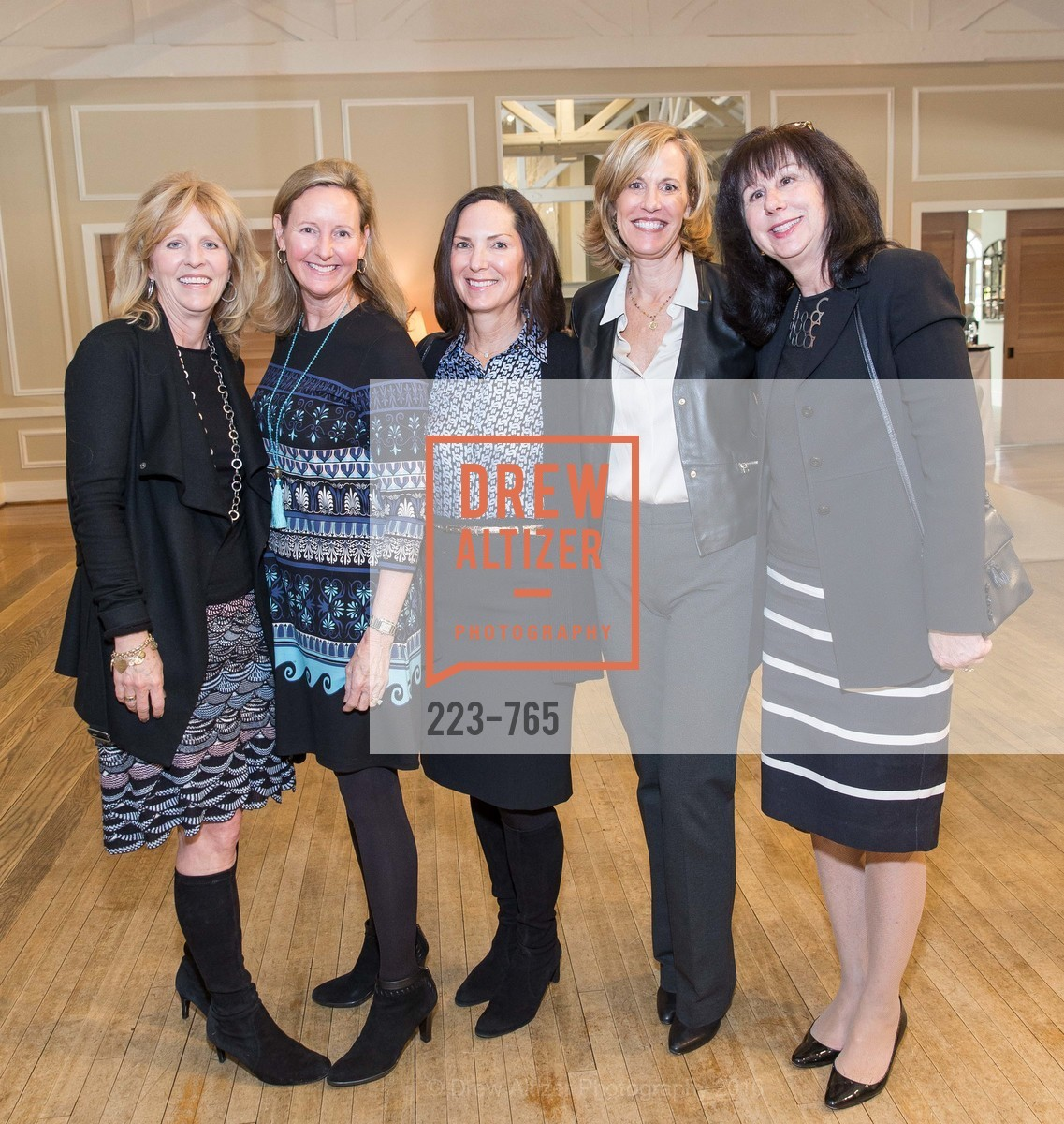 Jayne Mordell, Chick Runkel, Janice Meisel, Linda Benevento, Karen Hook, Stanford Women's Health Lunch, Menlo Circus Club. 190 Park Lane, January 26th, 2016,Drew Altizer, Drew Altizer Photography, full-service agency, private events, San Francisco photographer, photographer california