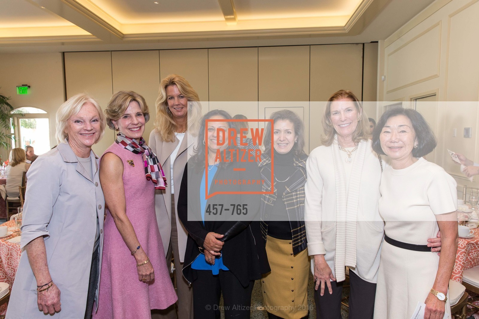 Bren Leisure, Ann Rossi, Mariann Byerwalter, Usha Nesamoney, Michele Schiele, Maggie Pringle, Margaret Raffin, Stanford Women's Health Lunch, Menlo Circus Club. 190 Park Lane, January 26th, 2016,Drew Altizer, Drew Altizer Photography, full-service agency, private events, San Francisco photographer, photographer california