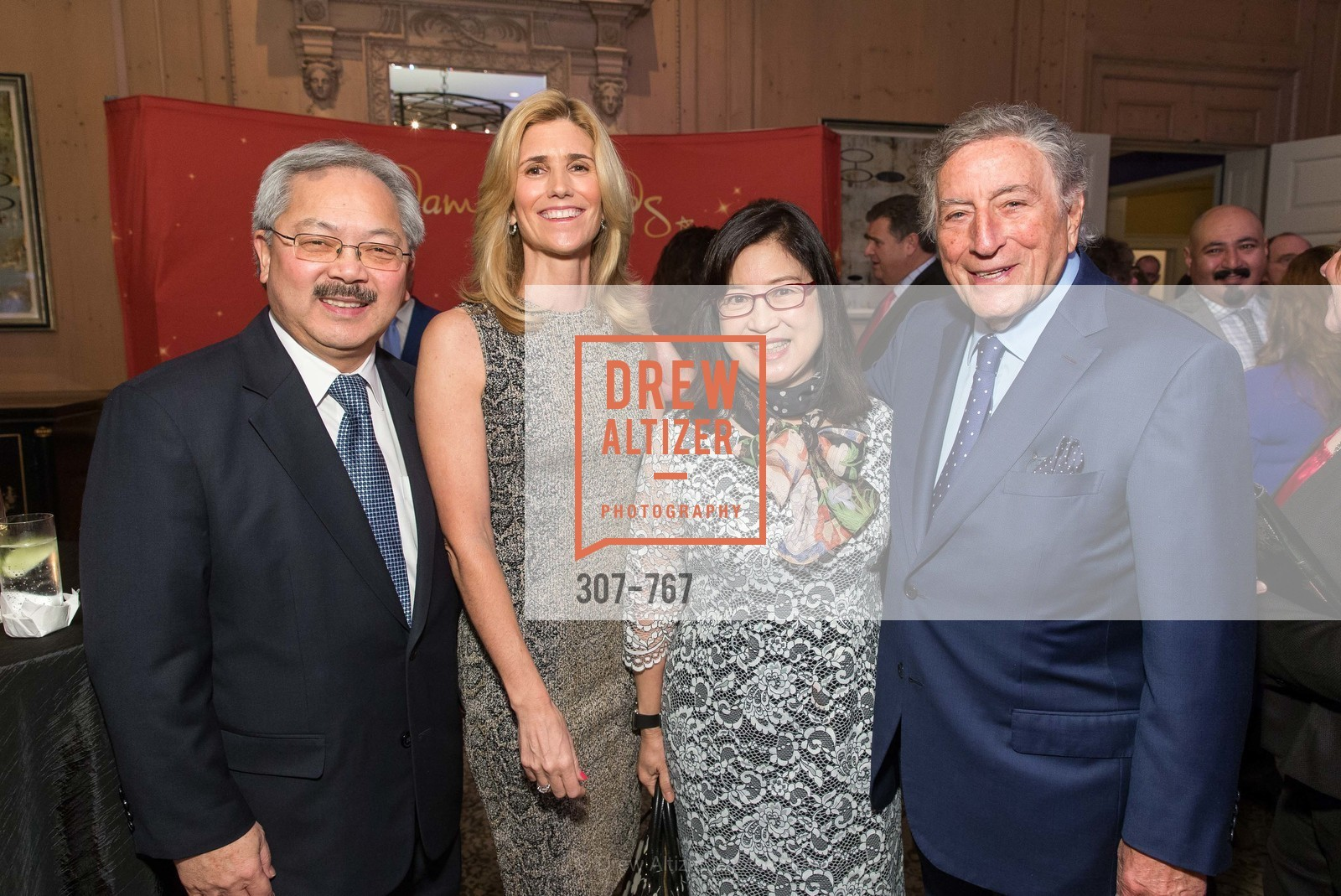 Ed Lee, Susan Benedetto, Anita Lee, Tony Bennett, A Special Reception with Tony Bennett, The Fairmont, San Francisco, The Penthouse Suite, January 26th, 2016,Drew Altizer, Drew Altizer Photography, full-service agency, private events, San Francisco photographer, photographer california