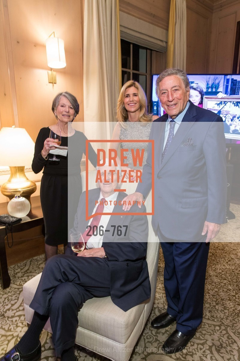Mary Ann Crow, Dayl Crow, Susan Benedetto, Tony Bennett, A Special Reception with Tony Bennett, The Fairmont, San Francisco, The Penthouse Suite, January 26th, 2016,Drew Altizer, Drew Altizer Photography, full-service agency, private events, San Francisco photographer, photographer california