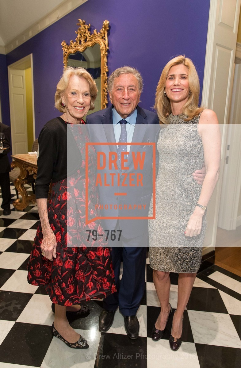 Charlotte Shultz, Tony Bennett, Susan Benedetto, A Special Reception with Tony Bennett, The Fairmont, San Francisco, The Penthouse Suite, January 26th, 2016,Drew Altizer, Drew Altizer Photography, full-service agency, private events, San Francisco photographer, photographer california