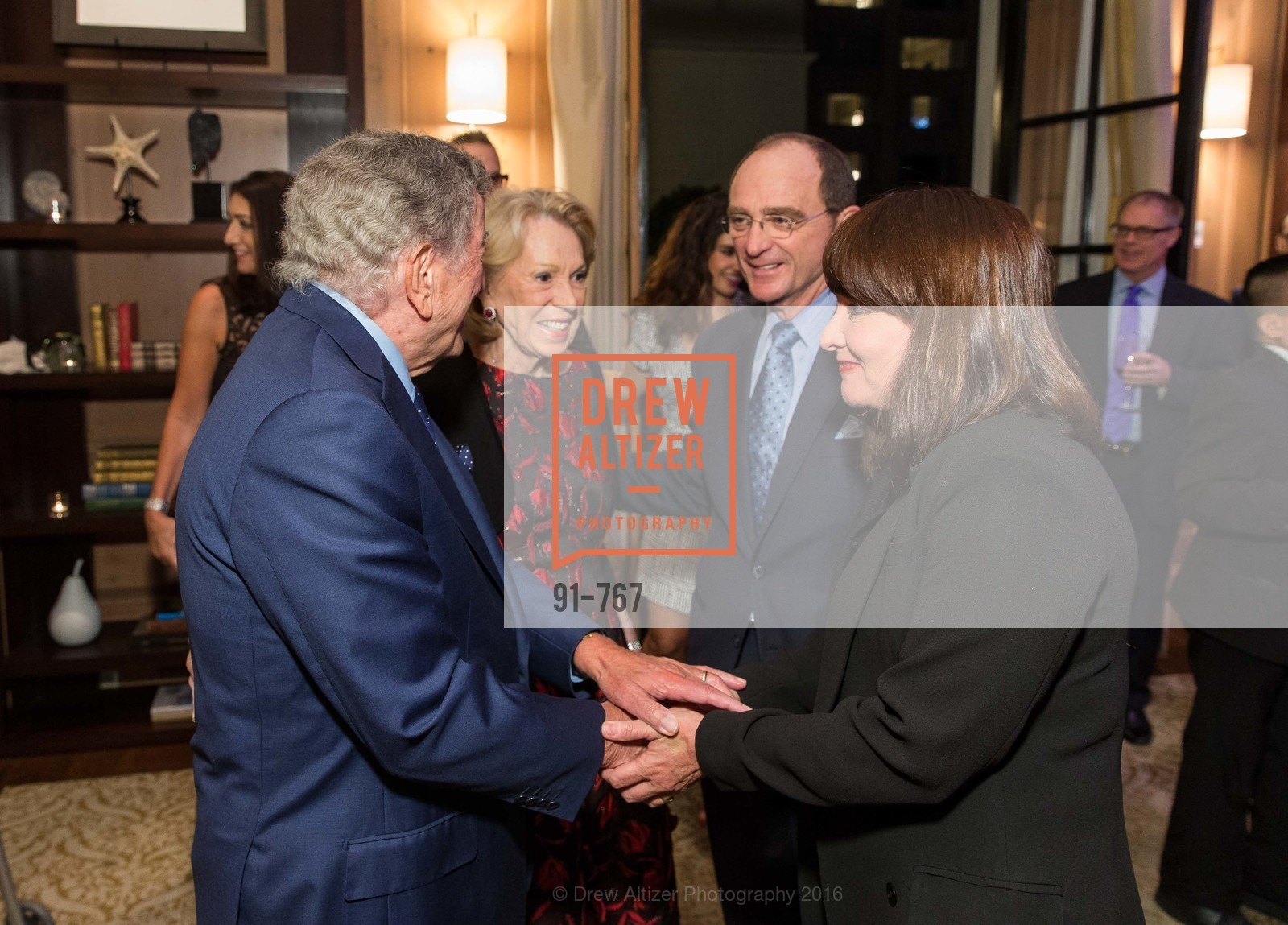 Tony Bennett, Charlotte Shultz, Tom Klein, Barbara Klein, A Special Reception with Tony Bennett, The Fairmont, San Francisco, The Penthouse Suite, January 26th, 2016,Drew Altizer, Drew Altizer Photography, full-service agency, private events, San Francisco photographer, photographer california