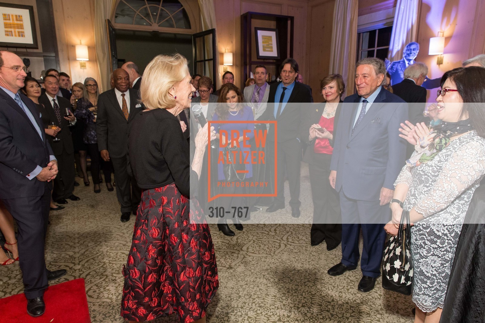 Charlotte Shultz, A Special Reception with Tony Bennett, The Fairmont, San Francisco, The Penthouse Suite, January 26th, 2016,Drew Altizer, Drew Altizer Photography, full-service agency, private events, San Francisco photographer, photographer california