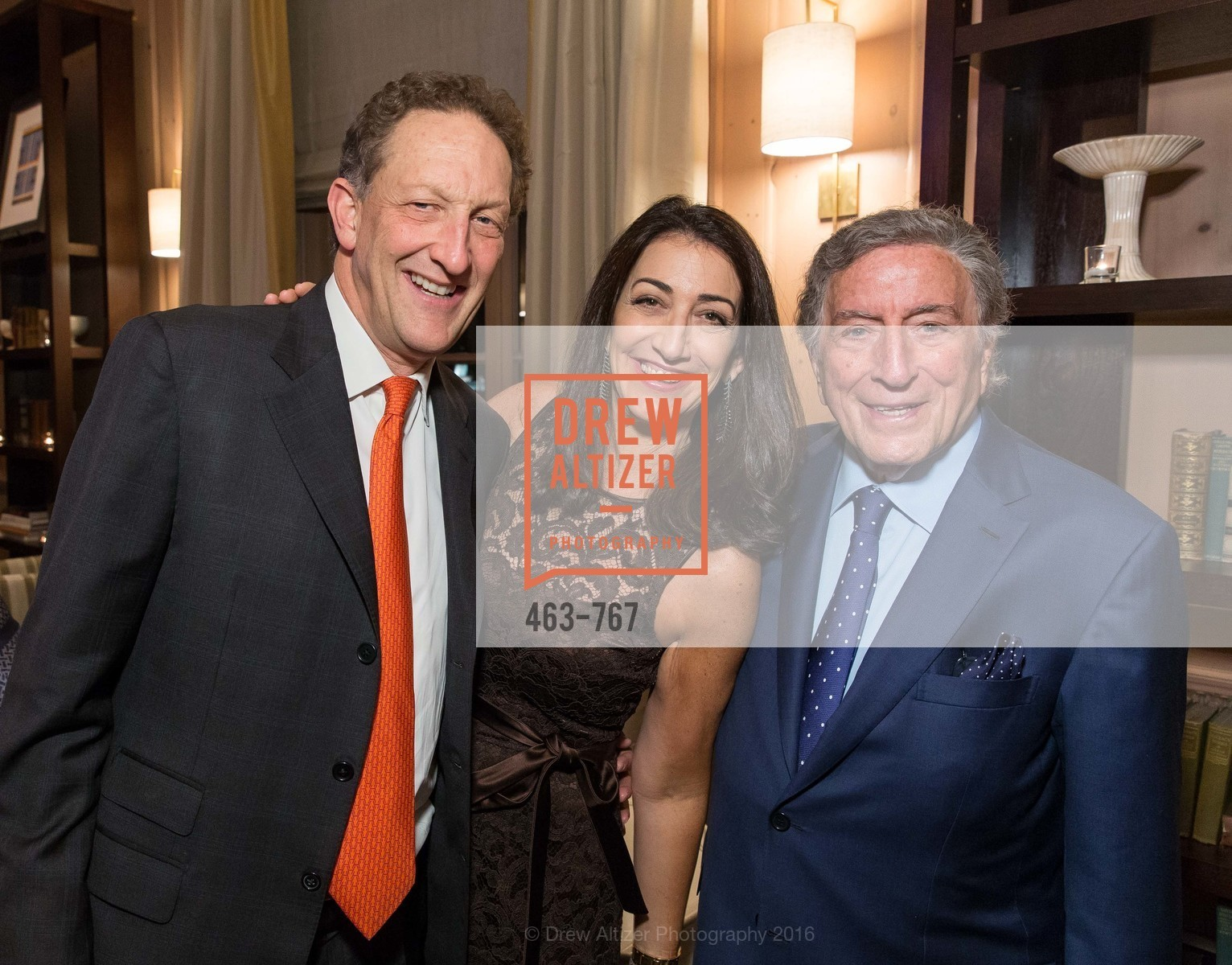 Larry Baer, Pam Baer, Tony Bennett, A Special Reception with Tony Bennett, The Fairmont, San Francisco, The Penthouse Suite, January 26th, 2016,Drew Altizer, Drew Altizer Photography, full-service agency, private events, San Francisco photographer, photographer california