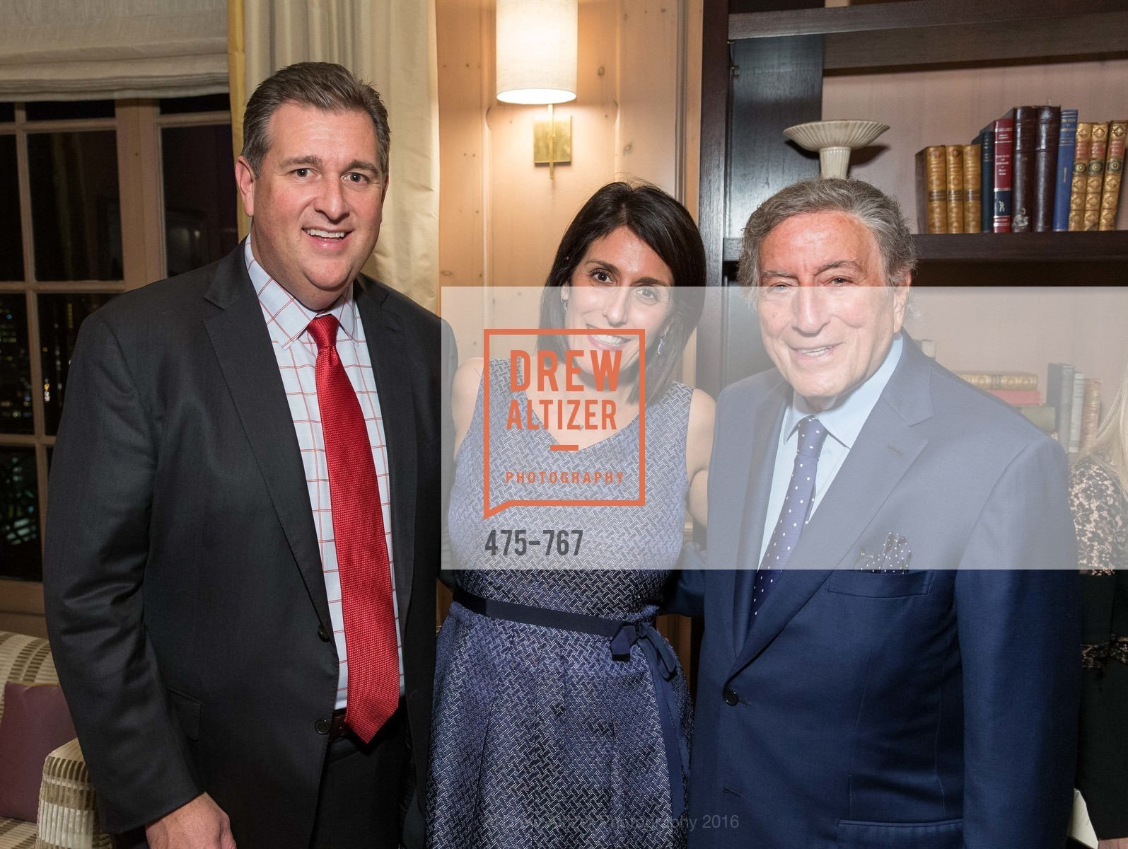Stephen Revetria, Elizabeth Revetria, Tony Bennett, A Special Reception with Tony Bennett, The Fairmont, San Francisco, The Penthouse Suite, January 26th, 2016,Drew Altizer, Drew Altizer Photography, full-service agency, private events, San Francisco photographer, photographer california
