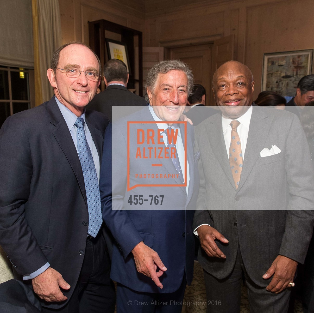 Tom Klein, Tony Bennett, Willie Brown, A Special Reception with Tony Bennett, The Fairmont, San Francisco, The Penthouse Suite, January 26th, 2016,Drew Altizer, Drew Altizer Photography, full-service agency, private events, San Francisco photographer, photographer california
