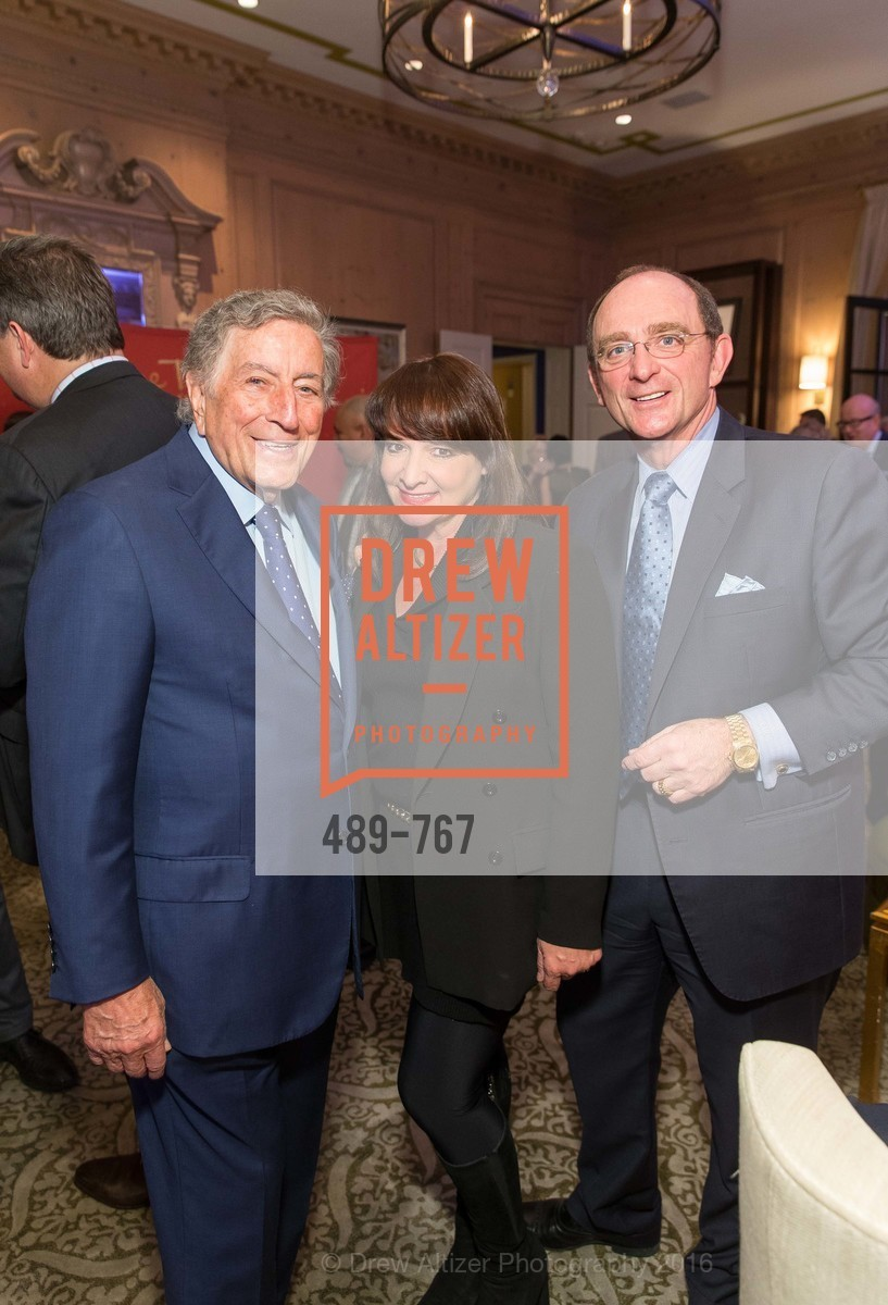 Tony Bennett, Barbara Klein, Tom Klein, A Special Reception with Tony Bennett, The Fairmont, San Francisco, The Penthouse Suite, January 26th, 2016,Drew Altizer, Drew Altizer Photography, full-service agency, private events, San Francisco photographer, photographer california