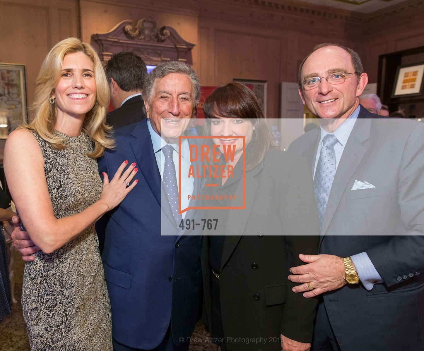 Susan Benedetto, Tony Bennett, Barbara Klein, Tom Klein, A Special Reception with Tony Bennett, The Fairmont, San Francisco, The Penthouse Suite, January 26th, 2016,Drew Altizer, Drew Altizer Photography, full-service agency, private events, San Francisco photographer, photographer california