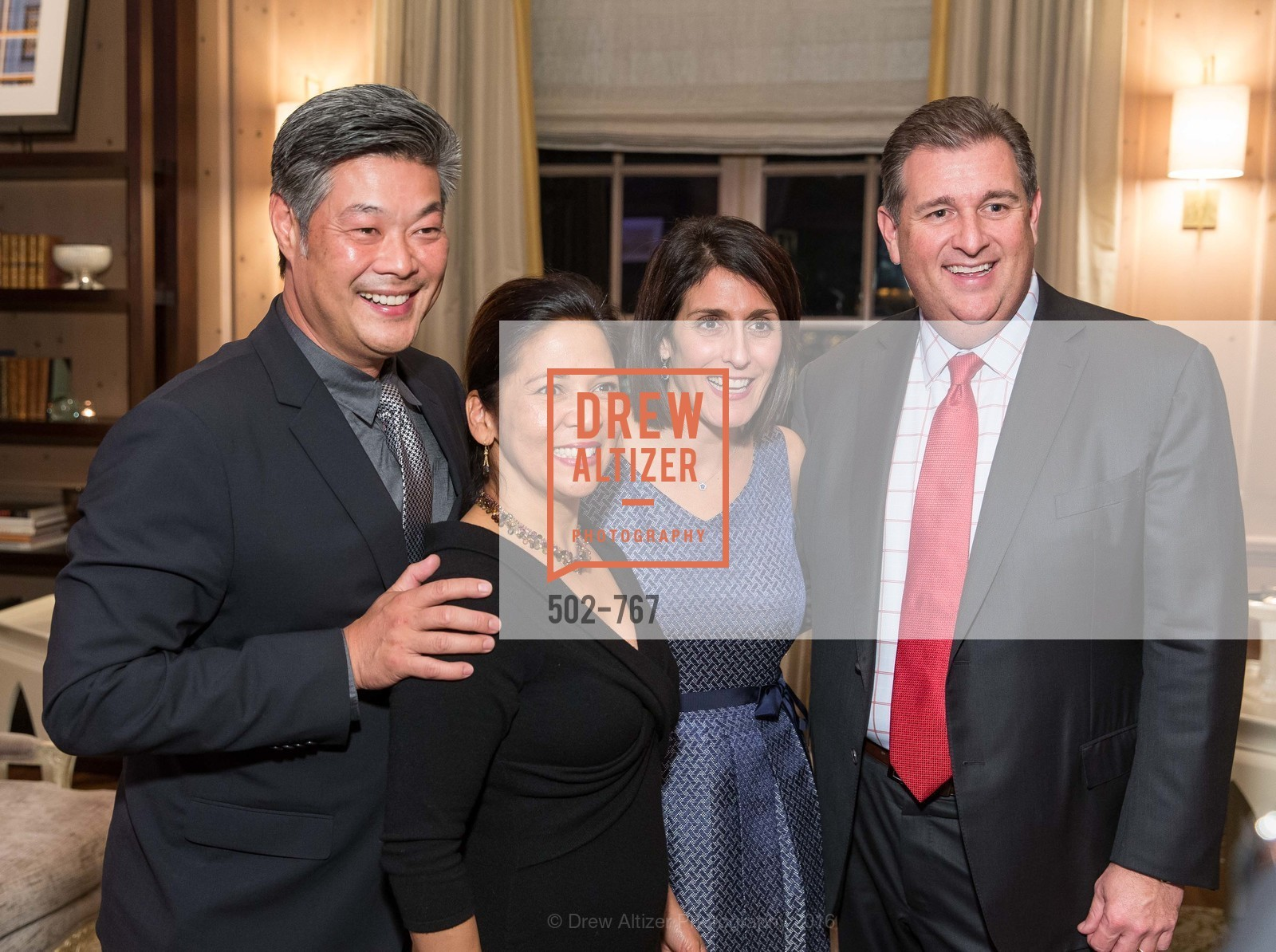 Rodney Fong, Darlene Fong, Elizabeth Revetria, Stephen Revetria, A Special Reception with Tony Bennett, The Fairmont, San Francisco, The Penthouse Suite, January 26th, 2016,Drew Altizer, Drew Altizer Photography, full-service agency, private events, San Francisco photographer, photographer california