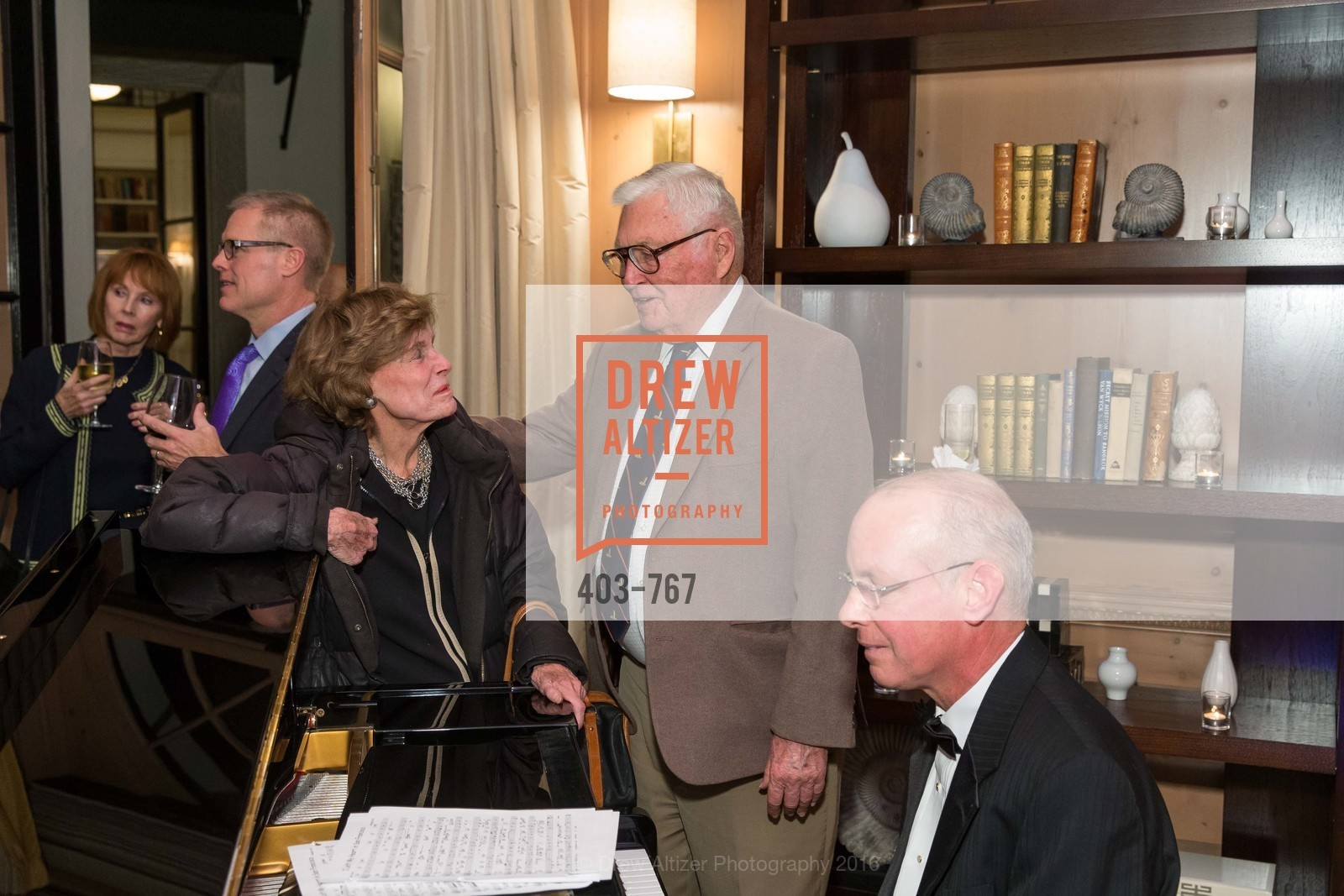 Cathie Johnson, Pitch Johnson, A Special Reception with Tony Bennett, The Fairmont, San Francisco, The Penthouse Suite, January 26th, 2016,Drew Altizer, Drew Altizer Photography, full-service agency, private events, San Francisco photographer, photographer california