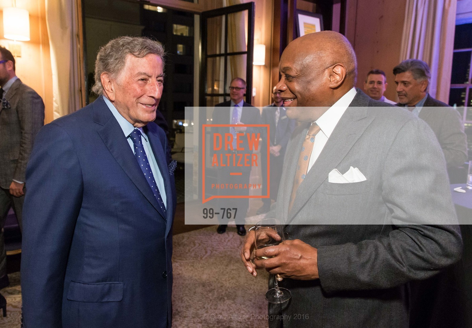Tony Bennett, Willie Brown, A Special Reception with Tony Bennett, The Fairmont, San Francisco, The Penthouse Suite, January 26th, 2016,Drew Altizer, Drew Altizer Photography, full-service agency, private events, San Francisco photographer, photographer california